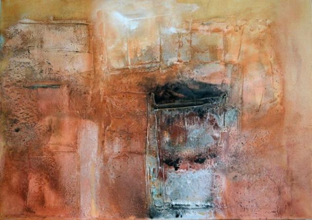 Gudrun Tischler, wonderfulART, Künstler, artist, abstrakte Malerei, Struktur, Marmormehl, Sumpfkalk, Pigmente
