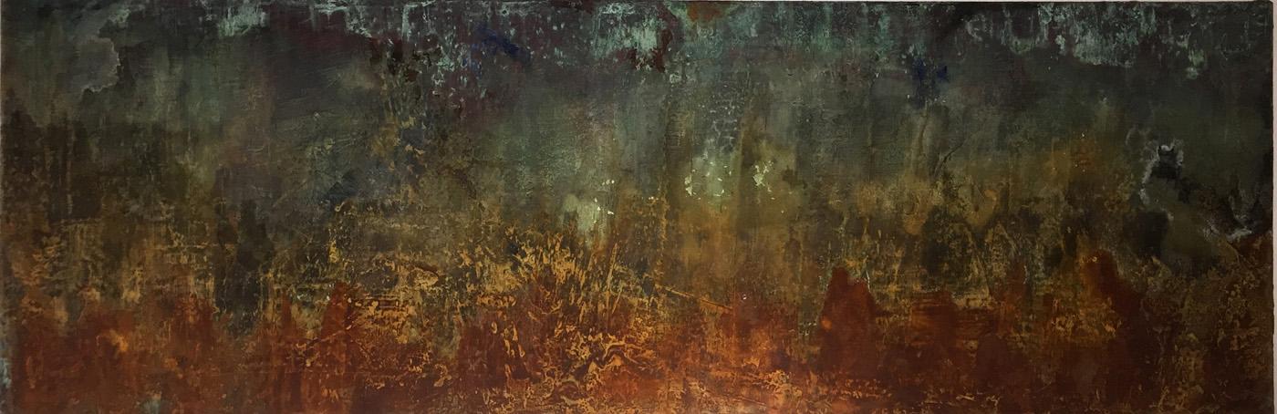 Gudrun Tischler, wonderfulART, Künstler, artist, abstrakte Malerei, Acrylfarben, Schellack, Tuschen, Rost, Kupfer, Patina