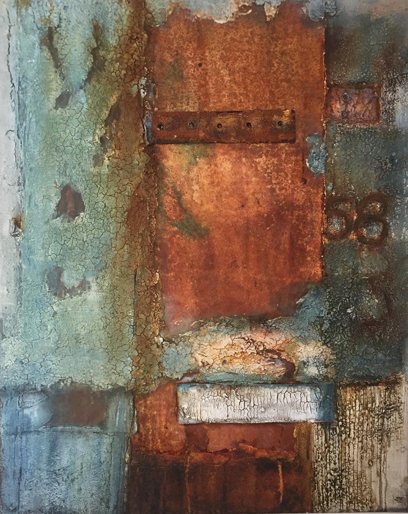 Gudrun Tischler, wonderfulART, Künstler, artist, abstrakte Malerei, Struktur, Marmormehl, Seinkreide, Papiere, Acrylfarben, Aerocolorfarben
