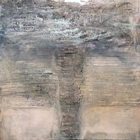 Gudrun Tischler, artist, Künstler, wonderfulART, process painting of intuitive power, Sumpfkalk, Pigmente, Kalkkasein, Struktur trifft Farbe, abstrakte experimentelle Malerei