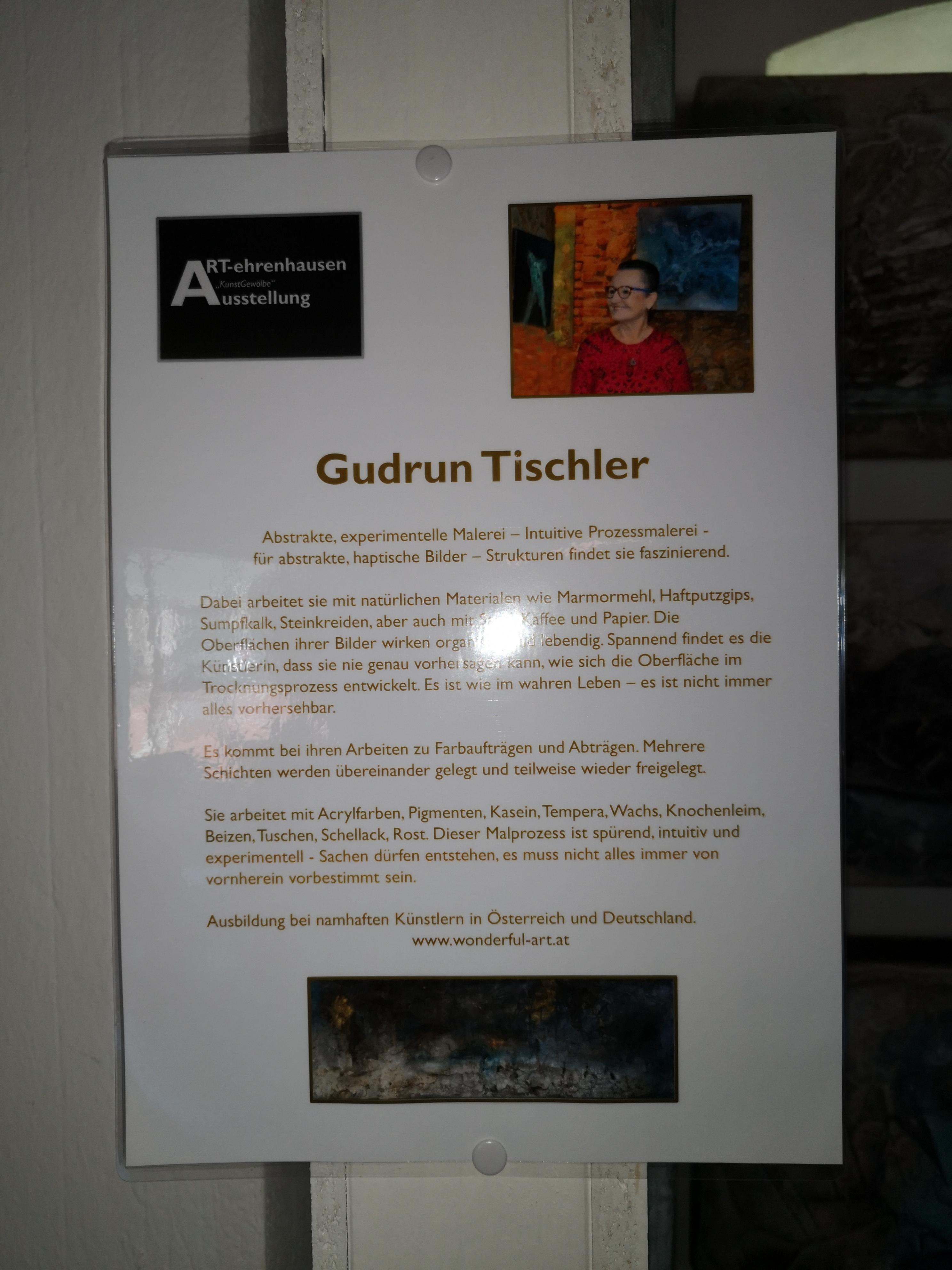 Gudrun Tischler, wonderfulART, Ausstellung, Marmormehl, Struktur, Pigmente, artist, Künstler